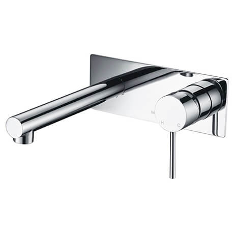 Ikon Hali Wall Basin Mixer with Spout