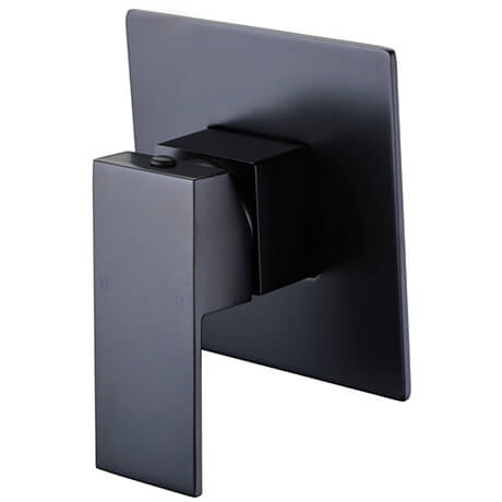 Rosa Black Square Bath Shower Mixer