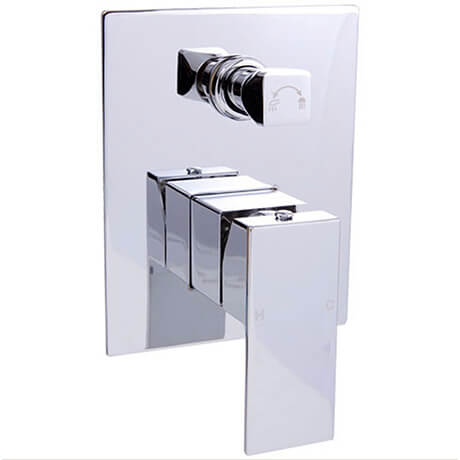 Rosa Square Bath Shower Mixer with Diverter