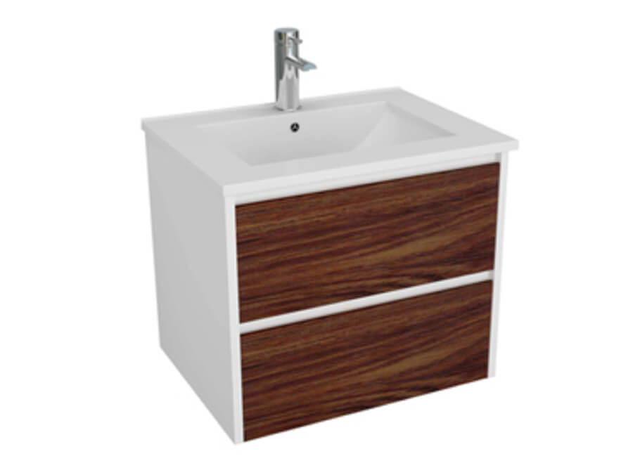Alana Wall Hung Vanity Unit 600mm Timber