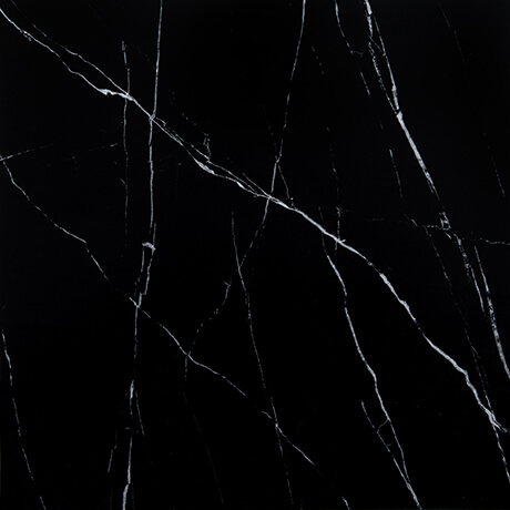 Nero Black Marble Porcelain Polished 600x600 - Tile Centre Adelaide